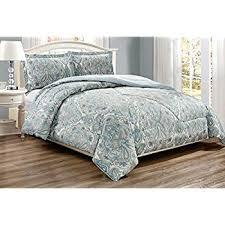 Pale Blue Comforter Set Amazon Com Mi Zone Tamil Comforter Mini Set Full Queen Blue