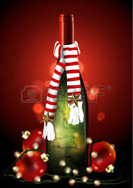 christmas wine christmas wine bottle with christmas light and royalty free