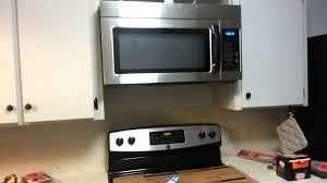 how to install over the range microwave without a cabinet installing an over the range microwave oven youtube