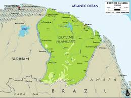 Guyana Map French Guiana Map U2022 Mappery