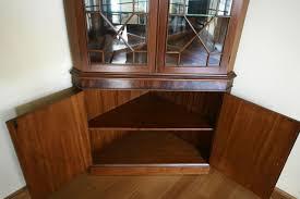 mahogany corner china cabinet corner hutch corner curio