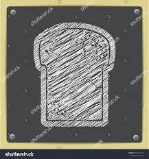 vector chalk drawn sketch bread icon stock vector 313323824
