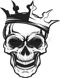 skull with crown design element for emblem badge sign t shirt