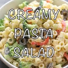 Pasta Salad Recipes With Italian Dressing Creamy Pasta Salad