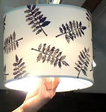 design and block print a lampshade ullswater association