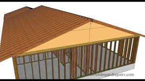 Roof Framing Pictures by Roof Framing Collar Ties Location According To Some Building Codes