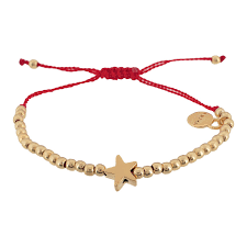 bracelet cord images Anna quot star and gold beads cord bracelet red ibiza passion jpg
