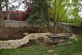 Ideas For Backyards by Retaining Walls For Sloped Backyards Sloped Hill In Our Backyard