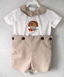triplet clothing baby boy personalized thanksgiving