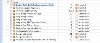 sdk manager apk eclipse broken built tools in android sdk manager missing aapt