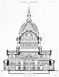 Parts Of A Cathedral Floor Plan by 5 Designs For The Dome C 1687 U20131708 St Paul U0027s Cathedral