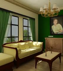 blue green and brown living room interior design