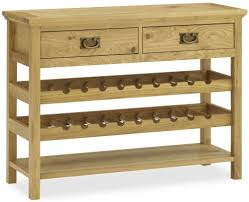sideboard cabinet with wine storage wine rack table bentley designs provence oak console table with