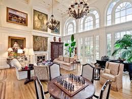 traditional living room with french doors u0026 hardwood floors