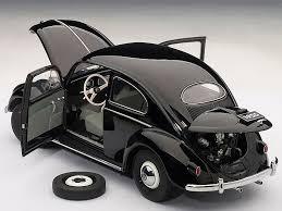 beetle volkswagen black autoart 1 18 scale volkswagen beetle kaefer limousine 1955 black