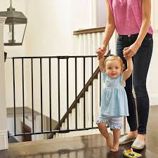 Munchkin Baby Gate Banister Adapter Amazon Com Munchkin Push To Close Extending Wide Baby Gate Dark