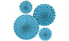 paper fan decorations caribbean blue mini paper fan decorations 5ct party city