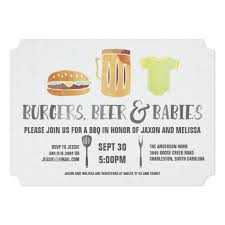 baby shower for couples burgers and babies s baby shower invitation shower