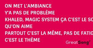 Magic System Meme Pas Fatigue - mãªme pas fatiguã paroles â khaled magic system raã n b fever 3