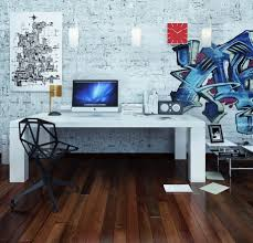 Simple White Desk by Interior Cool Office Room Design With Simple White Desk Combine