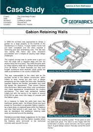 Swimming Pool Design Pdf by Gabion Retaining Walls Groundtechgeo Pdf Catalogues