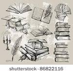 royalty free stock photos and images hand drawn vintage books