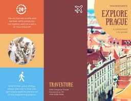 travel brochure template for students rustic prague travel brochure templates by canva