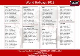 2013 calendar with holidays usa global calendar 2013 2013
