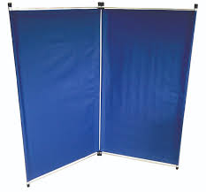 bi fold solid blue screen portable room divider with ikea f also