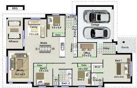 4 bedroom floor plans one story emejing simple house floor plans one story images liltigertoo