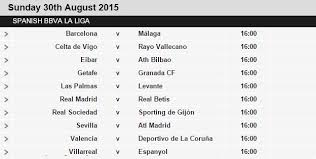 la liga table 2015 16 football giants la liga fixtures 2015 16