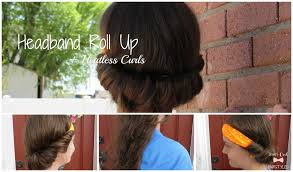 headband roll headband roll up heatless curls jewels cool style