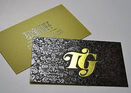 Stamped Business Card Foil Stamp Business Cards With Spot Uv Gloss Bracha Printing