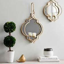 Mirrored Wall Sconce Gold Quatrefoil Mirrored Wall Sconce 19 5 In Kirklands