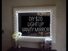 Lamp For Makeup Vanity Diy Light Up Vanity Mirror For 20 With Remote Youtube Made