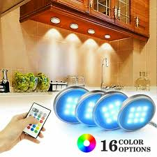what is the best led cabinet lighting 4pcs led cabinet lighting dimmable kitchen light counter remote l
