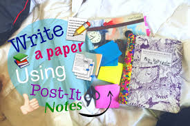 write a paper how to write a paper with post it or sticky notes tutorial how to write a paper with post it or sticky notes tutorial study hacks