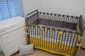 and grey chevron baby bedding