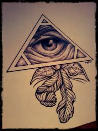 eye of god and feather tattoo design tattoo grid