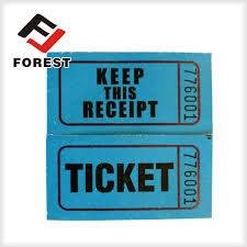 raffle ticket printing paper raffle ticket coupon ticket roll paper paprty ticket printing