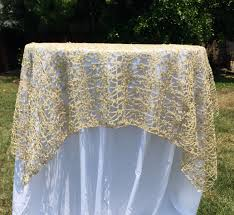 halloween lace tablecloth gold or silver sequence chain lace table overlay lace tablecloth