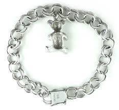 double charm bracelet images Vintage sterling silverteddy bear charm bracelet jpg