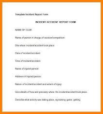 incident report template free hitecauto us