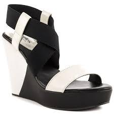 black and white sandal heels is heel