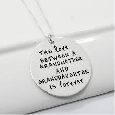 grandmother and granddaughter necklaces between grandmother and granddaughter is forever sted necklace