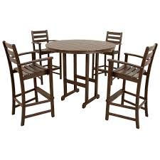 Patio Bar Furniture Set - trex outdoor furniture monterey bay classic white 5 piece patio