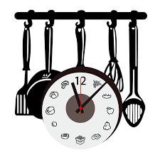 horloge cuisine horloge stikers cuisine deco clock