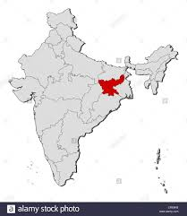 political map of india with the several states where jharkhand is