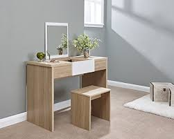 bedroom set with vanity table marlow oak and white lift up mirrored dressing table set with stool