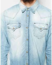 light blue true religion jeans true religion denim shirt jake slim fit western light indigo where